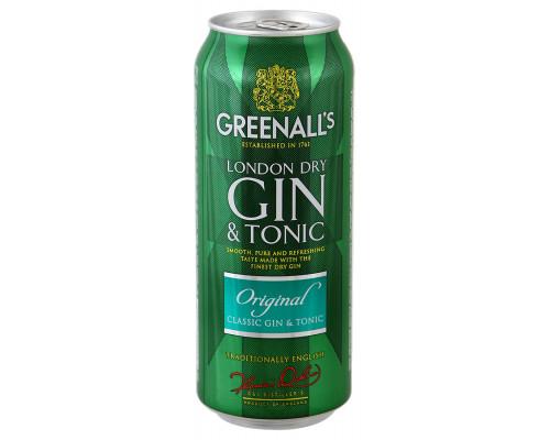 Напиток Gin&Tonic ТМ Greenall`s Original (Джин Тоник Гринэлз Ориджинэл), 7,2%, 0,5 л