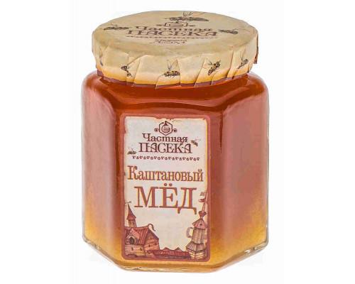 Мёд каштановый Частная пасека 250г ст/б