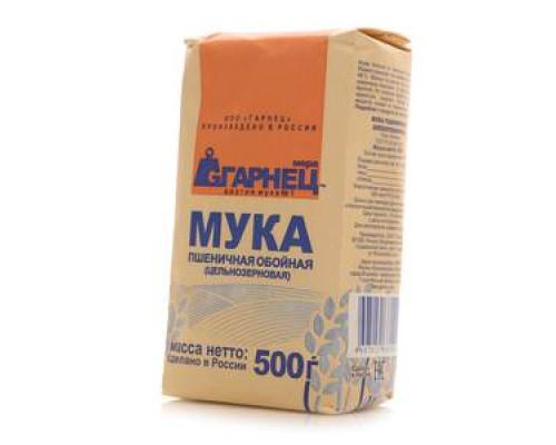 Мука пшеничная хлебопекарная цельнозерновая ТМ Гарнец