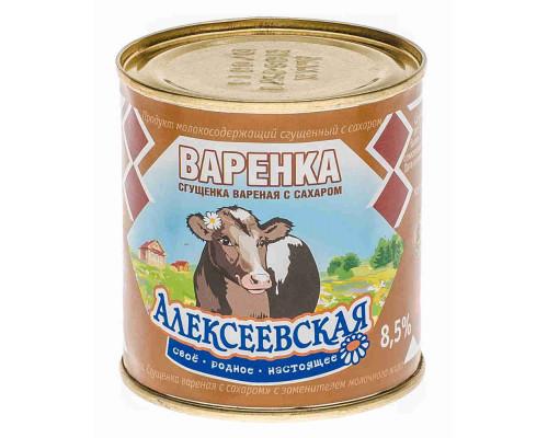 Продукт молокосодержащий сгущенка Алексеевская вареная 8,5% 370г ж/б