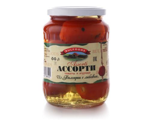 Ассорти томаты и огурчики ТМ Bulfoods (Булфудс)