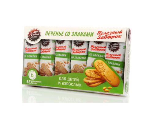 Печенье со злаками ТМ Хлебный Спас, 6 шт