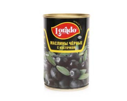Маслины ТМ Lorado (Лорадо), черные с косточкой 314 г