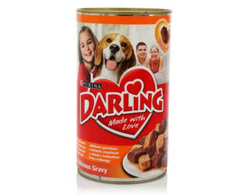 Корм для собак с курицей и индейкой ж/б ТМ Darling (Дарлинг)