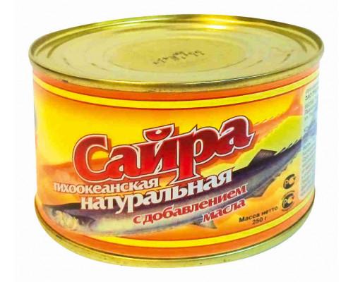 Сайра натуральная с маслом 240г