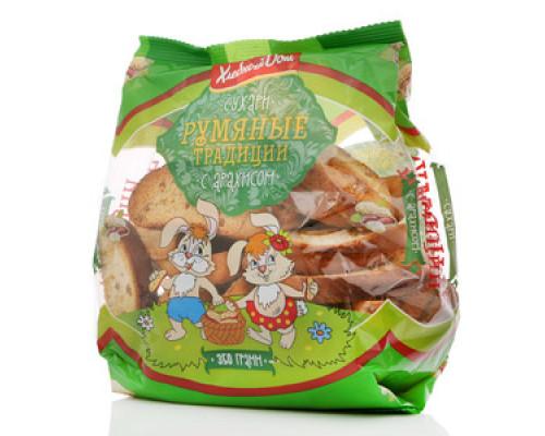 Сухари с арахисом Румяные традиции ТМ Хлебный дом