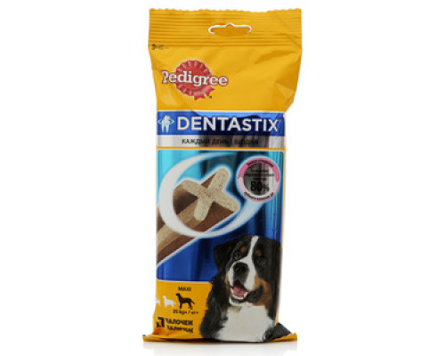 Лакомство для собак для ухода за зубами Dentastix maxi ТМ Pedigree (Педигри), 7 шт