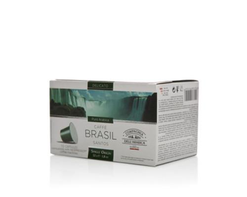 Кофе натуральный Brasil santos (Бразилия сантос) ТМ Compagnia Dell`Arabica (Компания дель Арабика), 10 капсул
