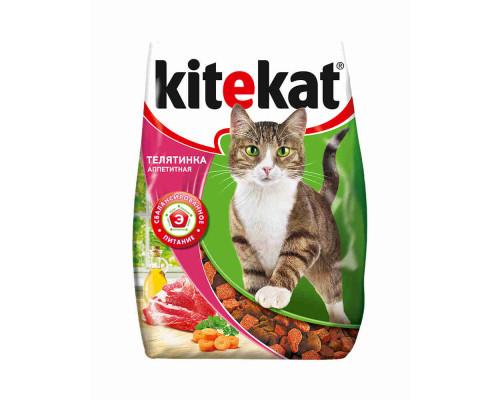 Корм для кошек Kitekat аппетитная телятинка 350г