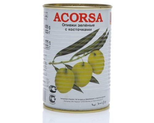 Оливки зеленые с косточкой ТМ Acorsa (Акорса)