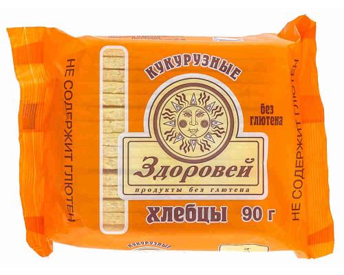 Хлебцы кукурузные Здоровей б/глютена 90г