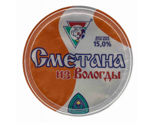 Сметана Из Вологды 15% 400г ст