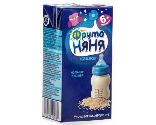 Каша рисовая молочная ФрутоНяня с 6мес 200мл т/п