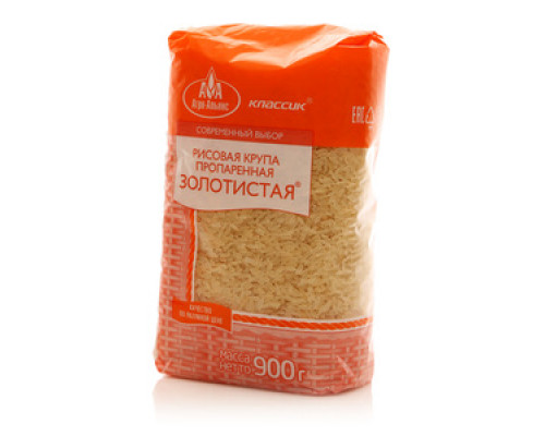 Рисовая крупа пропаренная золотистая ТМ Агро-Альянс