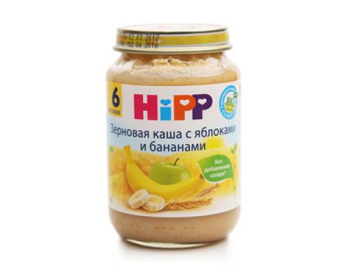 Зерновая каша с яблоками и бананами с 6 мес. ТМ Hipp (Хипп)