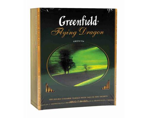 Чай зеленый ТМ Greenfield (Гринфилд), flying dragon 100 пакетиков