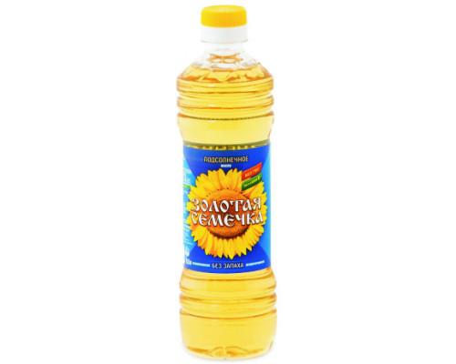 Масло подсолнечное рафинированное дезодорированное ТМ Золотая семечка, 0,5 л