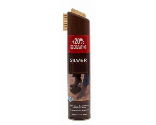 Восстановитель д/нубука и замши Silver Premium 3в1 коричневый 250мл+20% бесплатно