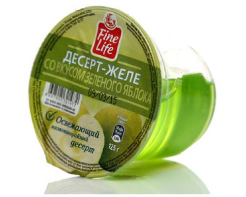 Десерт-желе со вкусом зеленого яблока ТМ Fine Life (Файн Лайф)