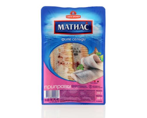 Филе сельди деликатесное с приправами Матиас ТМ Санта Бремор