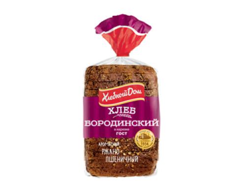 Хлеб БОРОДИНСКИЙ ХЛЕБНЫЙ ДОМ нарезка, 400 г