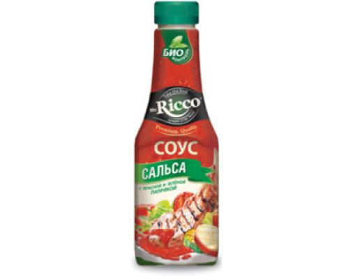 Соус сальса с красной и зеленой паприкой ТМ Mr.Ricco (Мистер Рикко)
