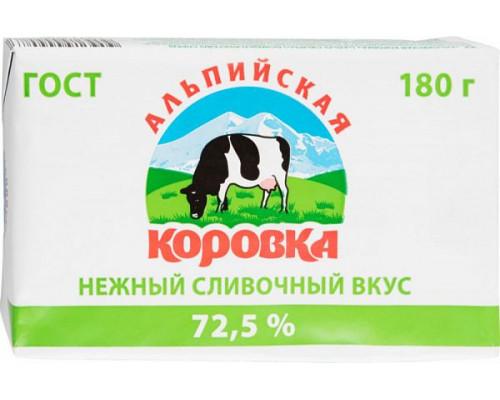 Спред растительно-сливочный ТМ Альпийская коровка, 72,5%, 180 г
