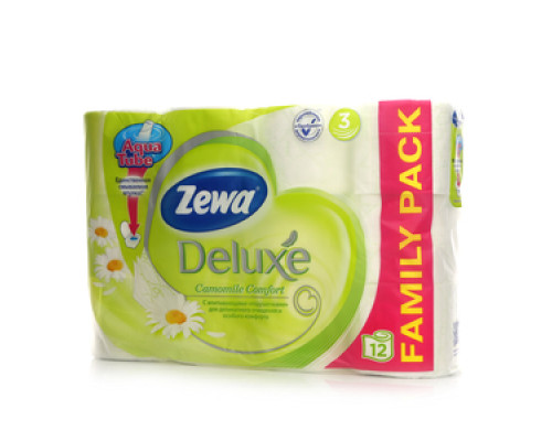 Туалетная бумага трёхслойная ароматизированная Ромашка TM Zewa (Зева), 12 рулонов