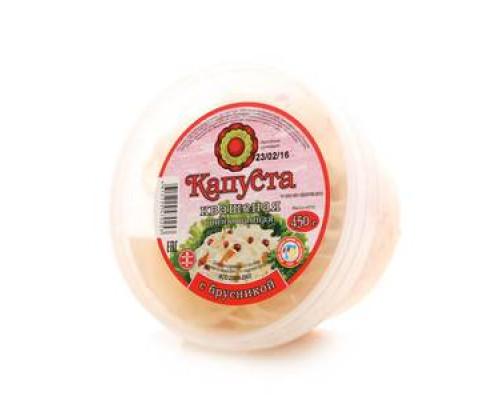 Капуста квашеная с брусникой ТМ Фабрика домашних солений