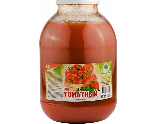 Сок Томатный Плодовое, 3 л