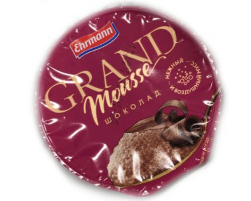 Молочный мусс ТМ Grand Mousse (Гранд Мусс), шоколад, 90 г