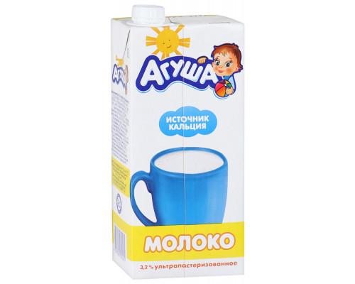 Молоко ТМ АГУША, ультрапастеризованное, с 3 лет, 3,2%, 950 г