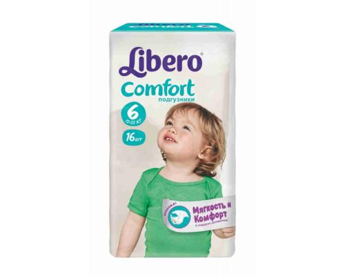Подгузники Libero Comfort XL 12-25кг 16шт