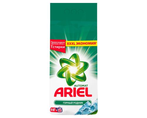 Стиральный порошок ТМ Ariel (Ариэль) Автомат Горный родник, 9 кг