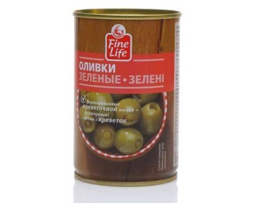 Оливки зеленые с креветками ТM Fine Life (Файн Лайф)