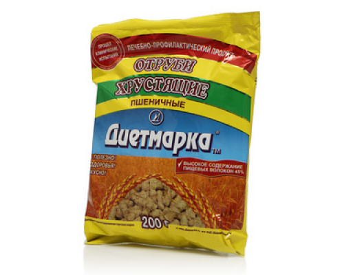 Отруби пшеничные хрустящие ТМ Диетмарка