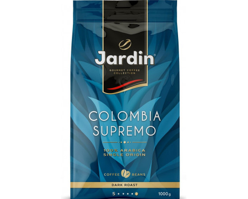 Кофе ТМ Jardin (Жардин), Colombia Supremo в зернах 1000 г
