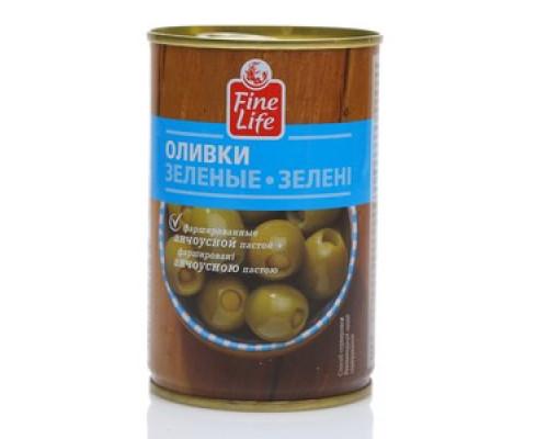 Оливки зеленые с анчоусом ТM Fine Life (Файн Лайф)