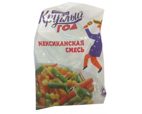 Смесь овощная Круглый Год Аппетитно Мексиканская, 400 г