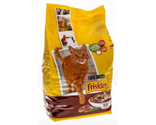 Корм д/кошек Friskies мясо/курица/овощи 2кг