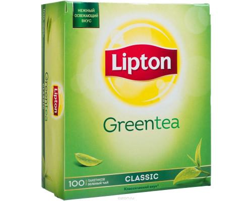 Чай зеленый ТМ Lipton (Липтон) Classic, 100 шт.