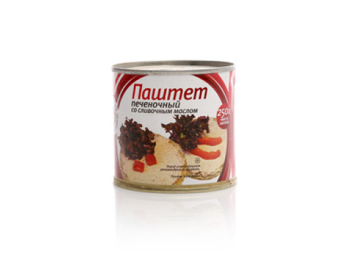 Паштет печеночный со сливочным маслом ТМ Лужский консервный завод