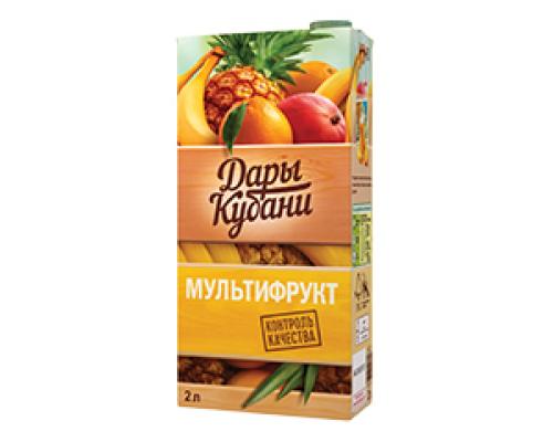 Нектар мультифрукт ТМ Дары Кубани, 2 л