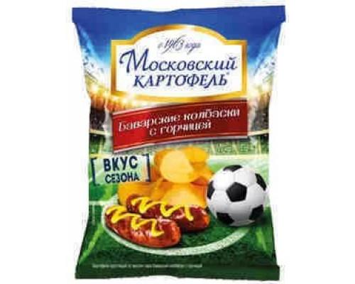 Чипсы ТМ Московский картофель, баварские колбаски с горчицей, 70 г