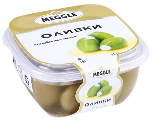 Оливки ТМ Meggle (Меггле) со сливочным сыром, 230 г